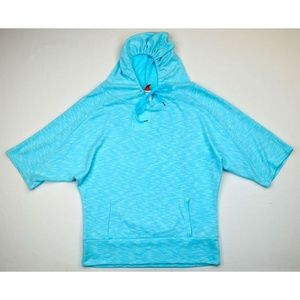 Lucy Womens In the Moment Pullover Shirt Top Blue